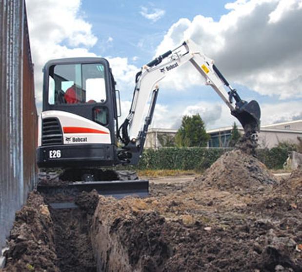 Excavadoras Bobcat giro de voladizo minimo