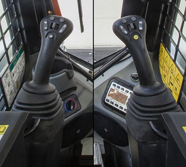 Bobcat mandos de joystick seleccionables