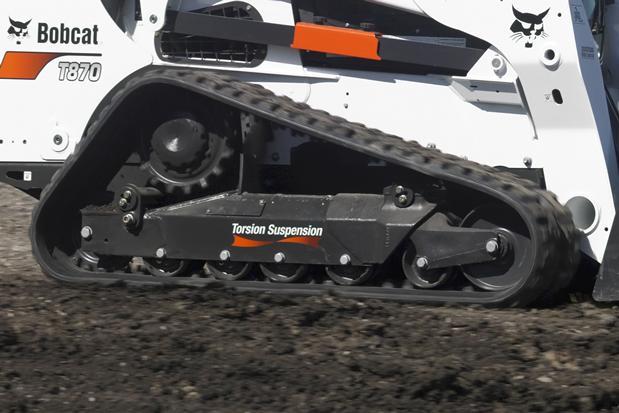 tren inferior con suspension de 5 articulaciones cargadora Bobcat