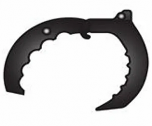 Grapa de tres cuchillas